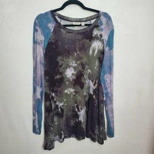 LOGO by Lori Goldstein Tie Dye Tunic